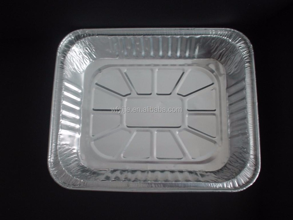 household aluminum Foil Steam Pan With Plastic Cover