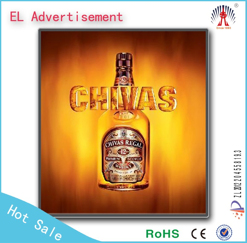 Fashion advertising poster el panel light new el outdoor advertising