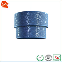 New round lace fabric texture shade adjustable KD hanging pendant lamp