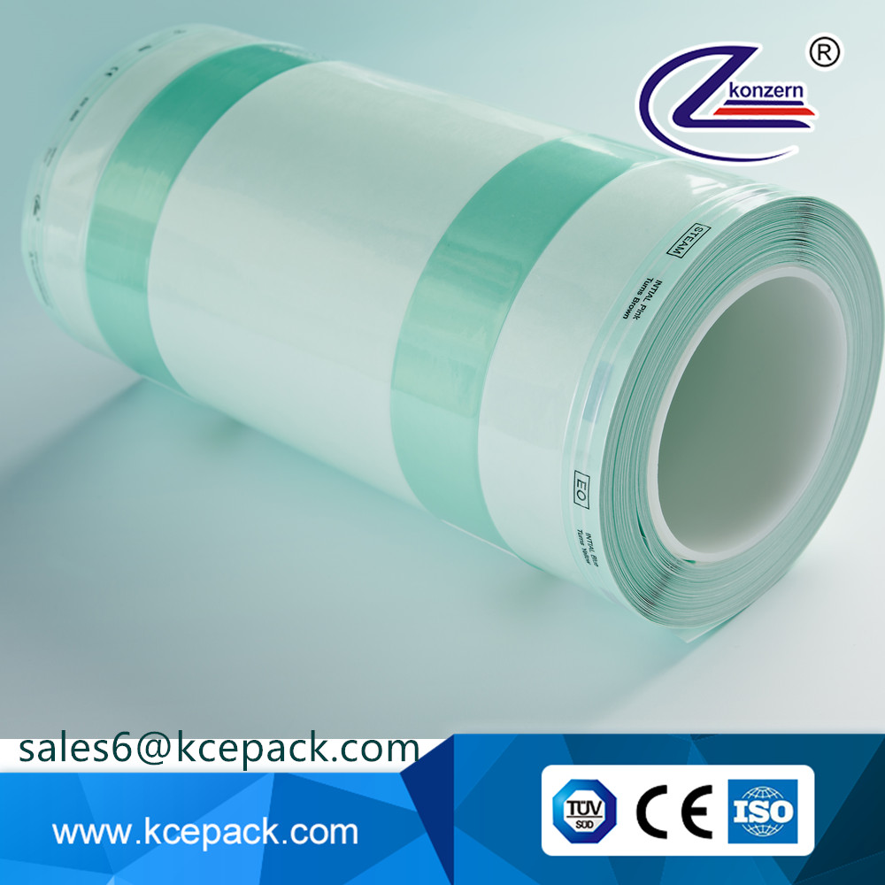 Consumables sterilization plastic gusseted roll bags for medical supplies