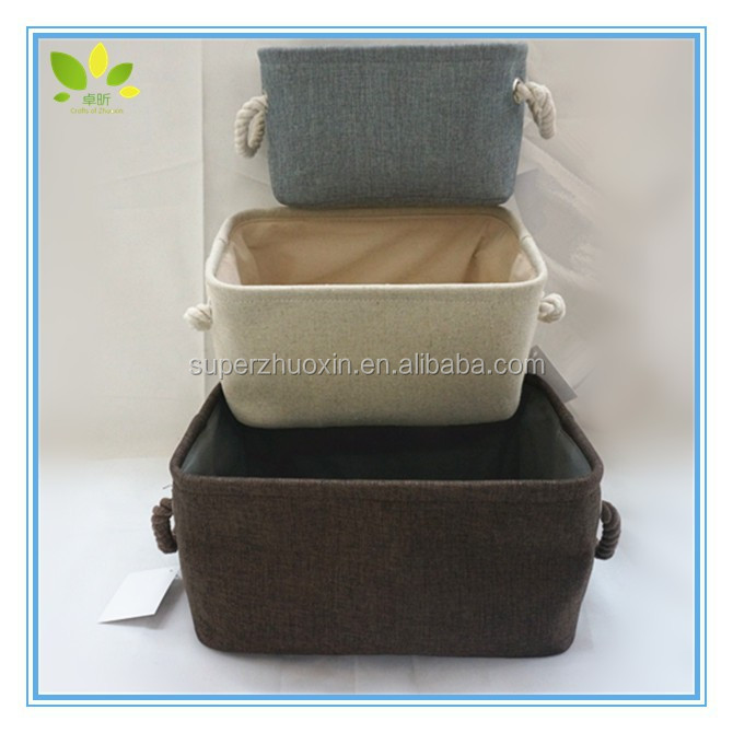 new design fabric storage laundry basket with cotton handle