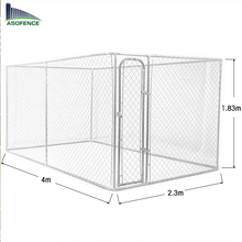 4 x 2.3 x 1.83m high quality cheap chain link dog kennels