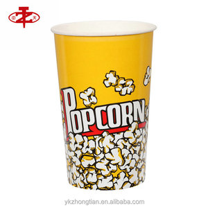 New Design Height Paper Popcorn Bowl Customized For Sale