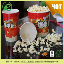 custom printed disposable paer popcorn bucket for fried chicken