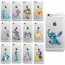 Hot Sale Fashion Ultra-thin Soft TPU Case For Cute iPhone 5 5S 6 7 6plus 6s plus Minnie Mickey Phone Cases Cartoon Cover Skin