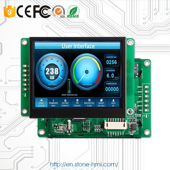 3.5 320*240 TFT LCD display with touch function used for car monitor