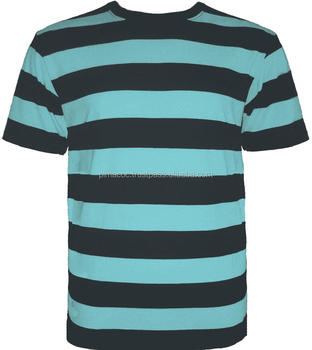 100% Pima Cotton Men T-Shirt , Striped