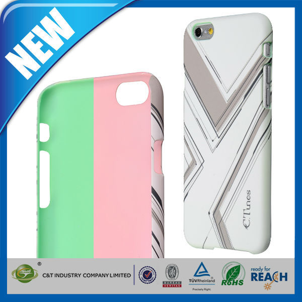 C&T Stylish Mobile Phone back lines printing plastic hard case for iphone 6