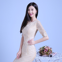 Alibaba new trendy half sleeves lace mermaid bridal gown