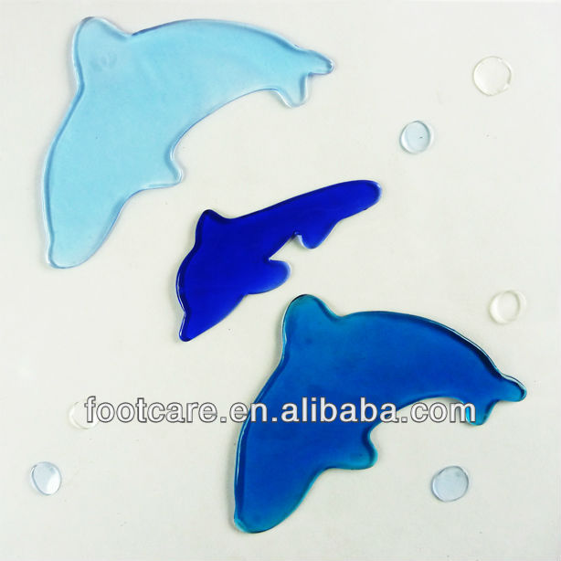 blue dolphin window gel clings