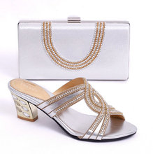 AB7115#5 new fashion italian shoes with matching bags to match women in wedding/evening party