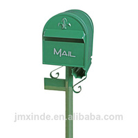 Direct selling tin mail box wall mounted plastic mailboxes