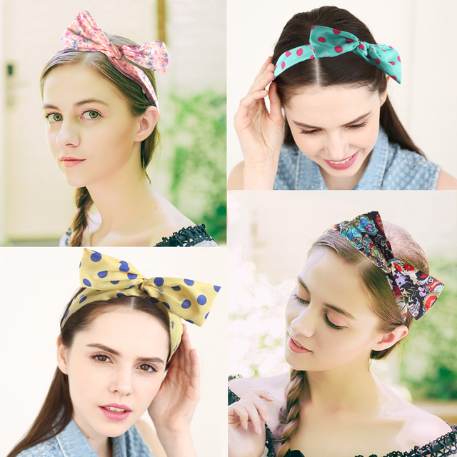 Hair accessories 10pc Wired Hair Tie, Korean style hair band, Elastic hair ties Headband Scarf