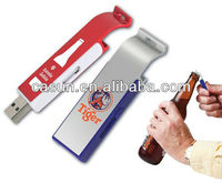manufactory hot selling usb flash drive bottle opener