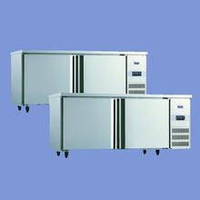 201 grade stainless steel solid door counter with all copper evaporation tube