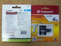 Transcend micro SDHC 4GB Memory Card