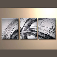 Newest Handmade Abstract Contemporary Triptych Oil Painting For Decor