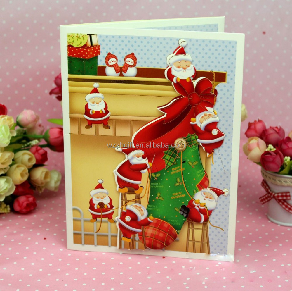 Chirstmas music greeting card for Promotion Holiday gifts