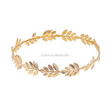 Gold Plated Beautiful Baroque Flower Leaf Hair Jewelry Accessories Princess Bride Crown