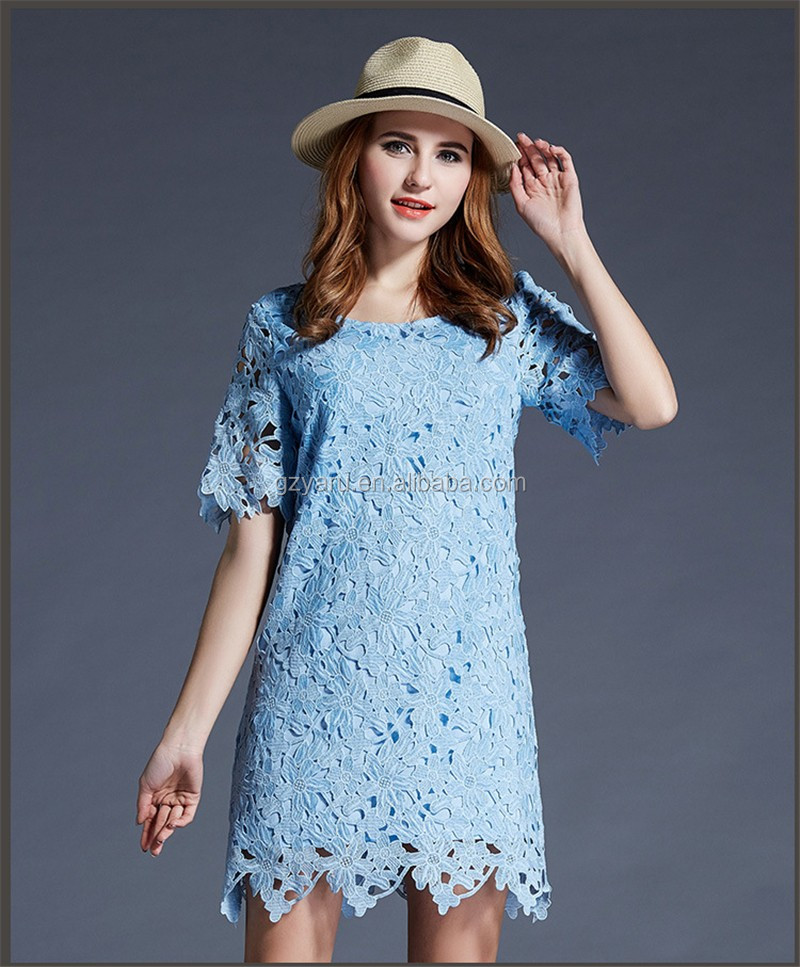 Women Lace Short Sleeve Party Cocktail Evening Summer Sexy Mini Dress for Fat Women