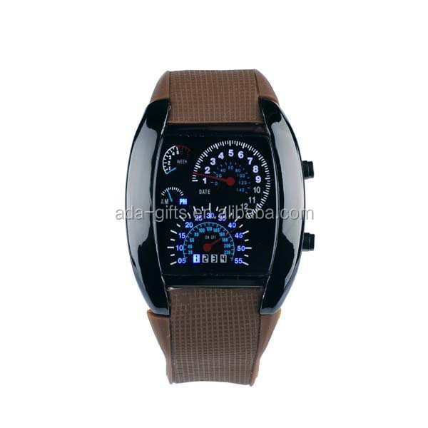 Turbo Sports Car Meter fashion mirror led watch women men cool led watch