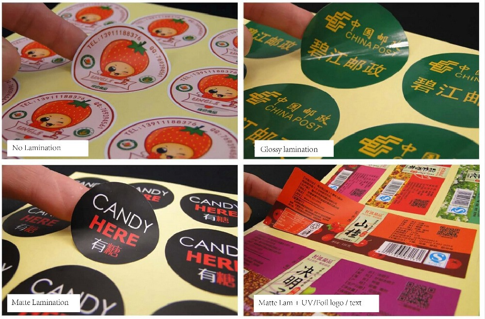 Fashion design! China factory Adhesive Paper Sticker / Custom Printed round shape sticker Labels/sticker label