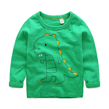 Online Shopping Boys Casual Wear Cute Cartoon Cotton Long Sleeve T Shirt
