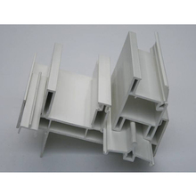2017 new design extruded hard plastic profiles for window and door