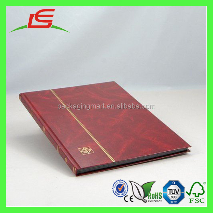 M080 hot selling paper cardboard stamp collection album with Plastic Binder wholesale