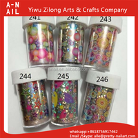 Flower Design Colorful Nail Art Transfer Foil Sticker 329 Designs Nail Tips Decoration Nail Sticker