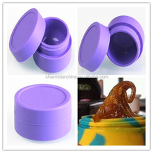 Hot sale food grade custom small gasket silicone jar dab wax oil cometic container