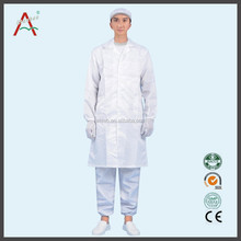 long style white 100% cotton doctor's medical scrub gown