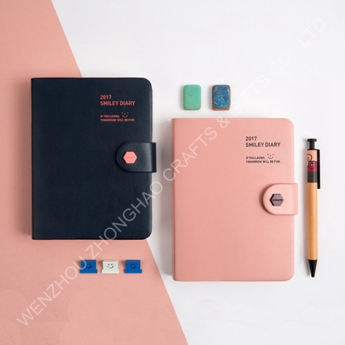 pu cover notepad/notebook, blank journals blank diary