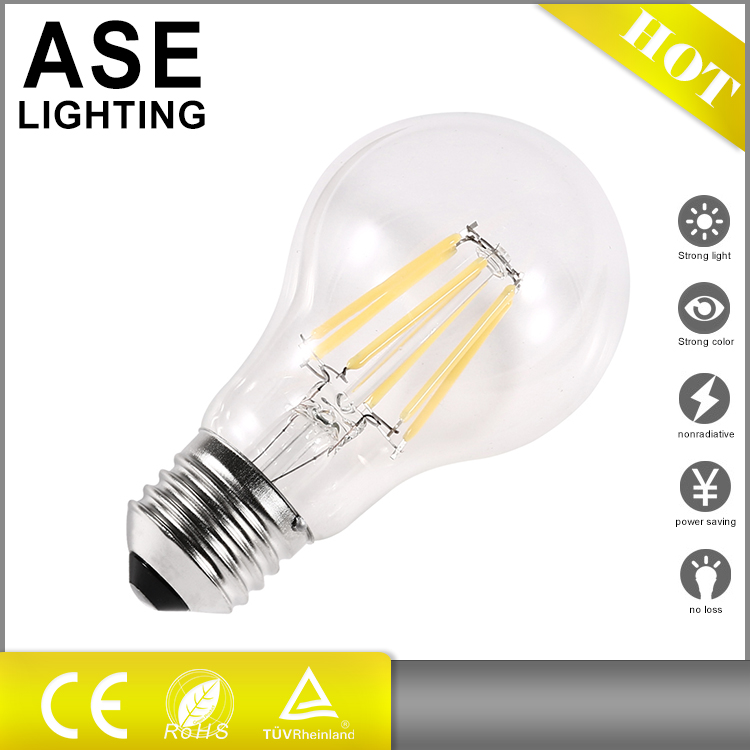 2017 most popular a60 dimmable filament bulb dimmable led bulbs with CE