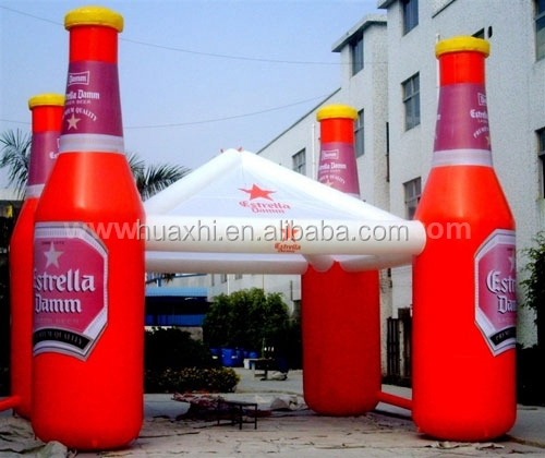 inflatable advertising beer bottle model air tent