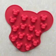 16 cavity Mickey Mouse jelly cake pudding DIY Chocolate silicone Mold