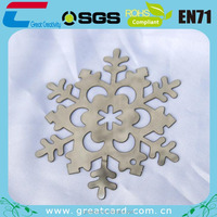 Professional factory made silver metal snowflakes