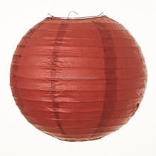 Wholesale Burgundy Chinese Japanese Round Paper Lantern Wedding Lampion