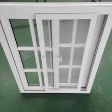 Prefabricated concrete house/villa china supplier pvc frame windows , heat resistant windows of plastic material