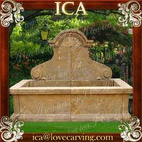 Stone water outdoor hand carved antique garden fountain