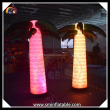 Summer Hot Factory Direct beach event advertising stage light palm display inflatable party led light palm decoration