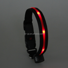 Nylon LED USB rechargeable dog collars dog products