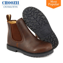 Hot Brown Hand Stitched Ankle Safety Crazy Horse Leather Boots