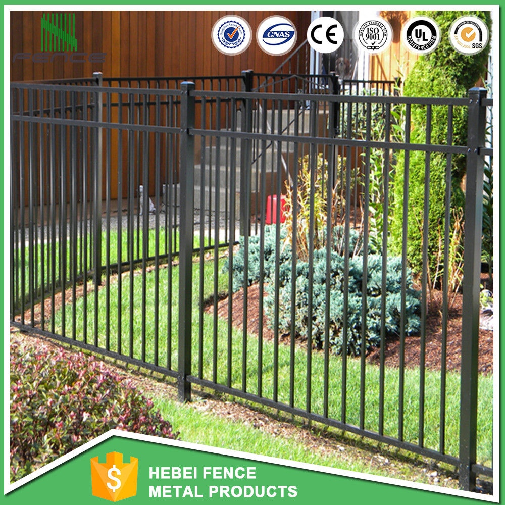 temporary modular metal garrison fencing prices /galvanised tubular metal fence
