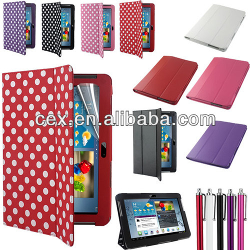 Tri-Fold PU Leather Case Cover Stand for Samsung Galaxy Tab 2 10.1 P5100 P5110