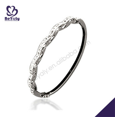 silver jewelry rhinestone white gold bangles latest designs