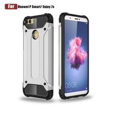 Shockproof Bumper Hybrid Armor Shell Mobile Phone Case For Huawei P Smart, For Huawei Hybrid Case