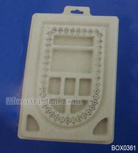 Bead design board 22.9*15.5*1.3cm PVC flocked grey color