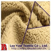 100% polyester microfiber sherpa fabric for garment