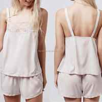 Ladies pyjamas with lace trim wholesale sexy see througn sleepwear